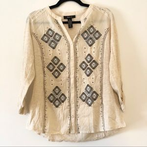 Style & Co embroidered button down